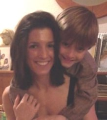 Danielle Zupansic with son Bradley Zupansic