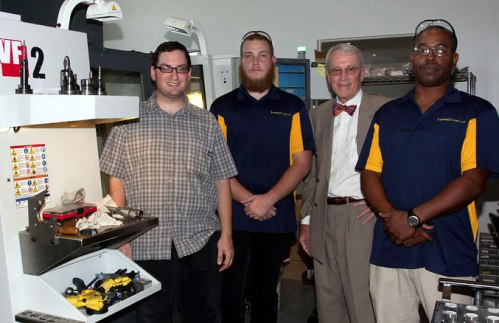 SPC graduates Frank Arent, Brandon Carver and Bryan Calhoun join SPC President