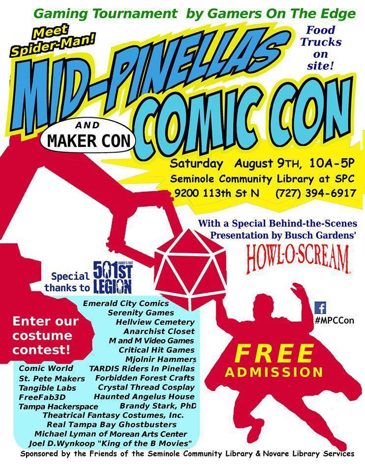 SPC, Seminole Community Library to host comic con event in