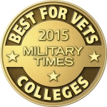 Logo for the Best for Vets 2015 rankings by the Military Times.