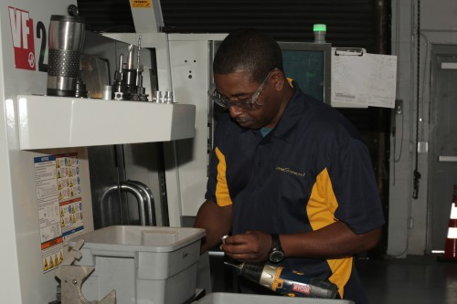 SPC graduate Bryan Calhoun works at LumaStream, an LED manufacturing company in St. Petersburg.