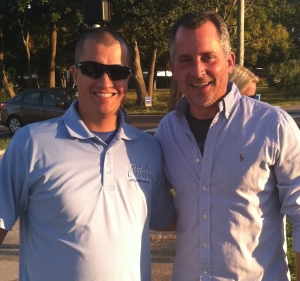 Pictured from left: Peter Parapon and Congressman David Jolly.