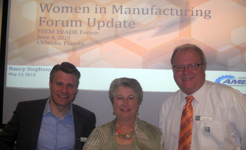 Brent Weil, Senior Vice President for Education & Workforce at The Manufacturing Institute; Nancy Stephens, MAF Center for Advanced Manufacturing Excellence; and Dr. Gary Graham, Statewide Director for Florida TRADE.