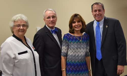 From left: Dr. Marcie Biddleman, Executive Director, Juvenile Welfare Board; Dr. Bill Law, SPC President; Maria Edmonds, Chair, Juvenile Welfare Board; Robert J. Fine, Jr., Chairman, SPC Board of Trustees.