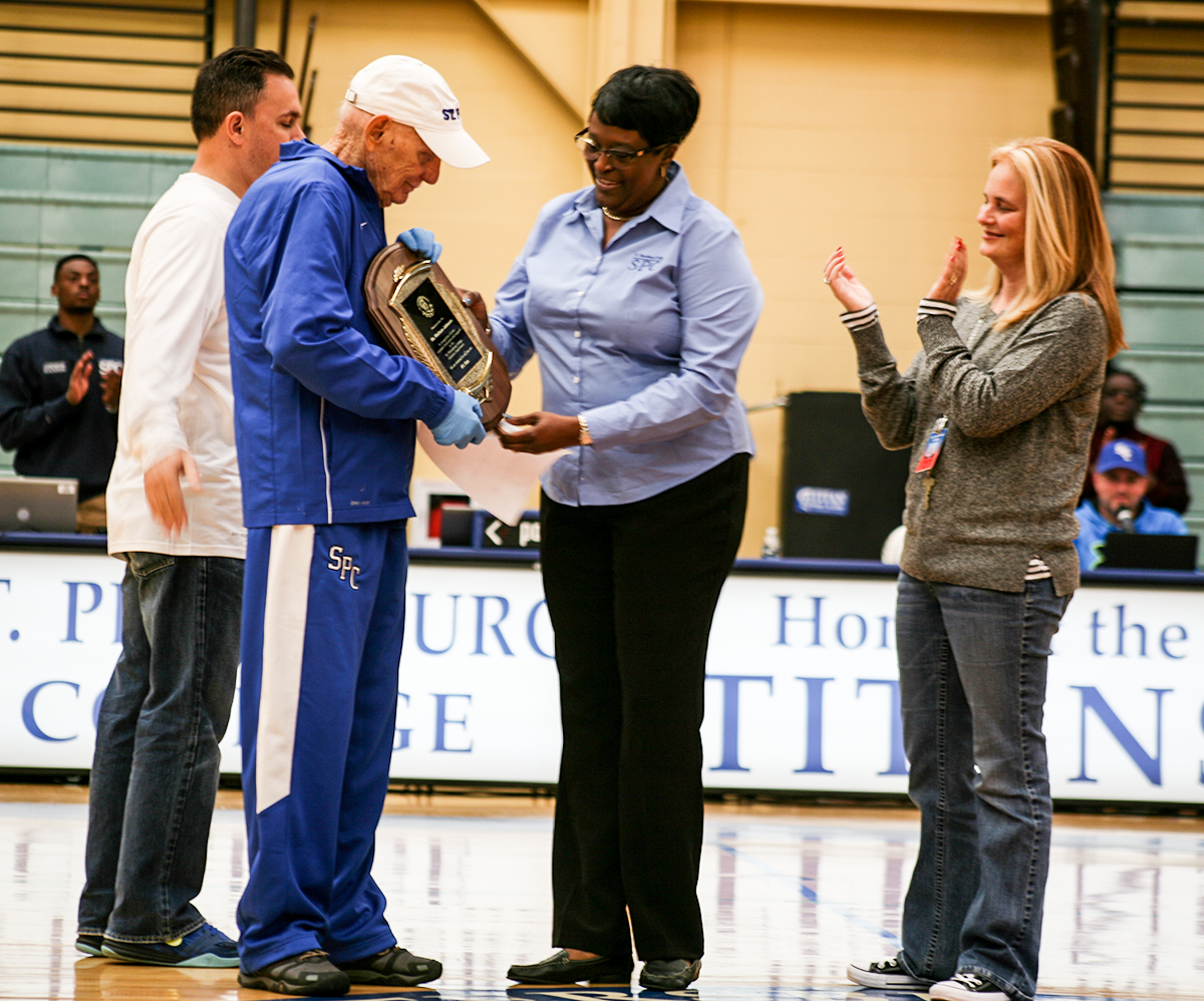 SPC Athletics honors its number one fan   St  Petersburg
