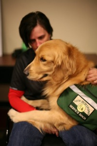 A veteran and service dog at the Ride 2 Recovery event