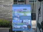 Sign with artist rendering of SPC Clearwater East Community Library at groundbreaking ceremony