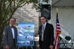 Clearwater Mayor George Cretekos and Clearwater Provost Stan Vittetoe at library groundbreaking