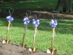 Groundbreaking ceremony shovels at SPC Clearwater East Community Library