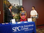 Honors college booth at Presidential scholarship event