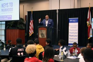 Photo of Freddy Williams at Keys to Manhood event