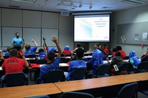 Photo of students at Keys to Manhood event