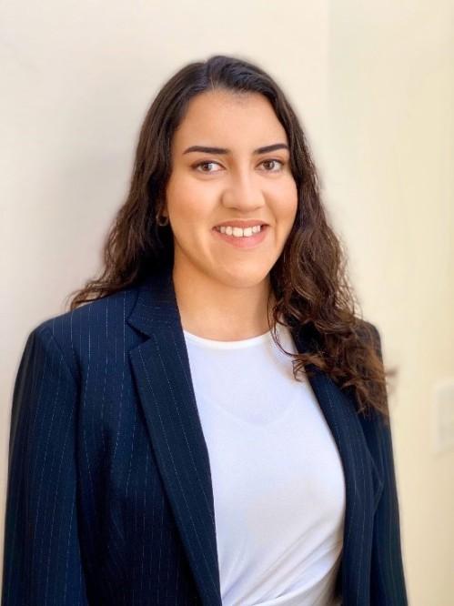 Headshot of Erika Ostos Perez, SPC's 2020 Alumni Achievement Award recipient